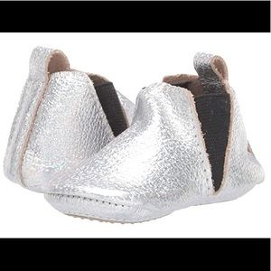 NEW! Freshly Picked Mini Sole Silver Chelsea Boot